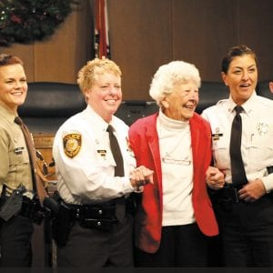 First female county police officer honored