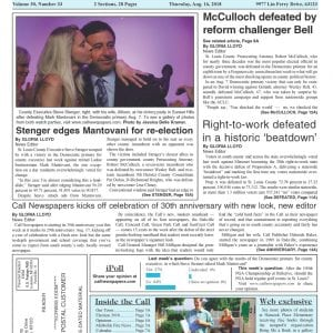 Call Newspapers kicks off celebration of 30th anniversary with new look, new editor