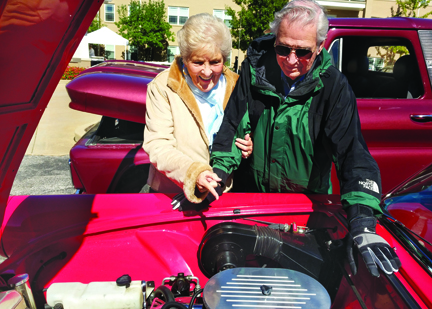 Residents enjoy Friendship Village Vintage Car Show
