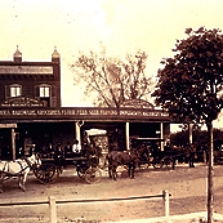 The Winheim Bros. Grocers and General Store was the hub of commerce in Oakville near where St. Paul's United Church of Christ, the Charles Meyer Insurance Agency and the Shell station now stand on Telegraph Road by Cliff Cave Road. It also served as Post Office from 1876 until the early 1900s.