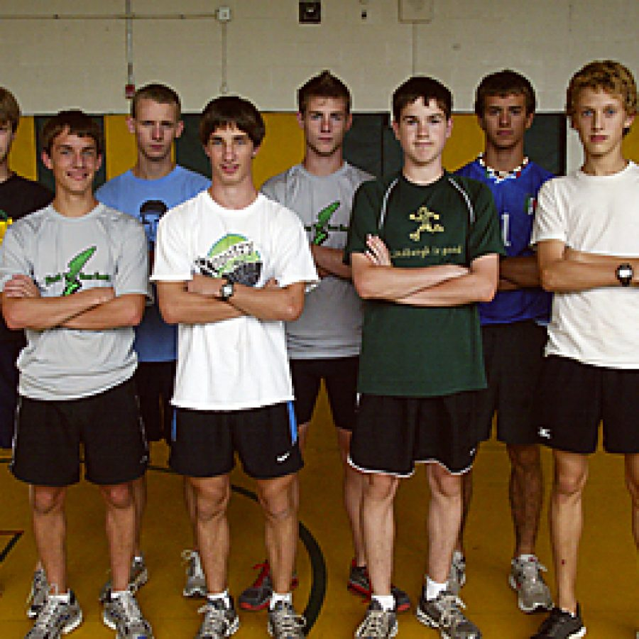 The Lindbergh High School boys' cross country team is seeking its fifth consecutive district title this year. Bill Milligan photo