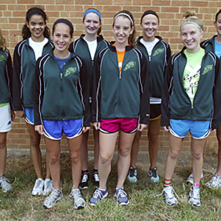 Conducting tryouts this year has resulted in the Lindbergh High girls' cross country team boasting the cream of the crop of district runners. Bill Milligan photo