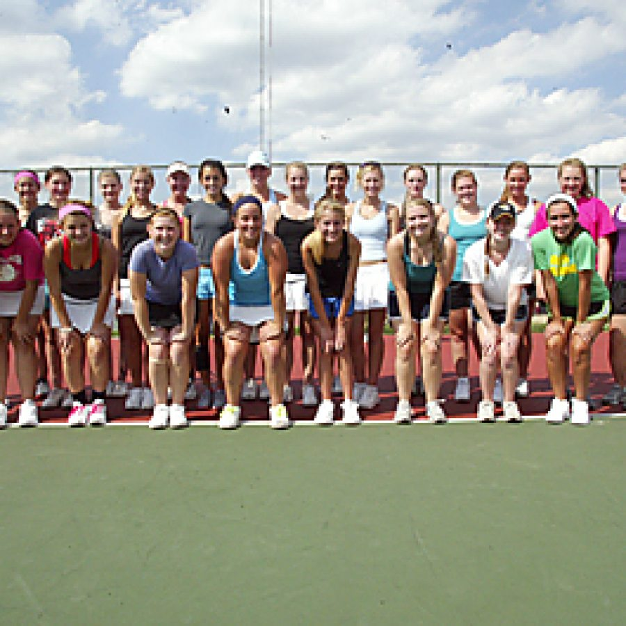 Flyers head coach Laura Conti believes her girls' tennis team has the experience and potential to have some success this season. Bill Milligan photo