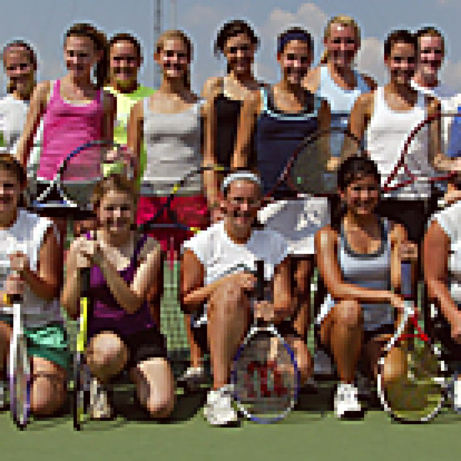 The Lindbergh High School girls' tennis team boasts several players this season who could advance beyond the district tournament. Bill Milligan photo