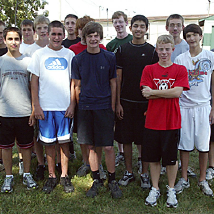 Mehlville High boys' cross country coach Dustin Pearce has more athletes out this year than ever before. Bill Milligan photo