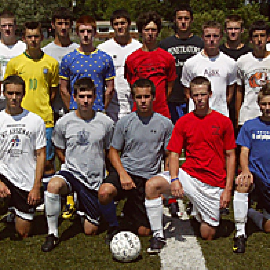 With 14 players returning from last year's squad, Mehlville Senior High School boys' soccer head coach Tom Harper believes he has a talented group of athletes. Bill Milligan photo