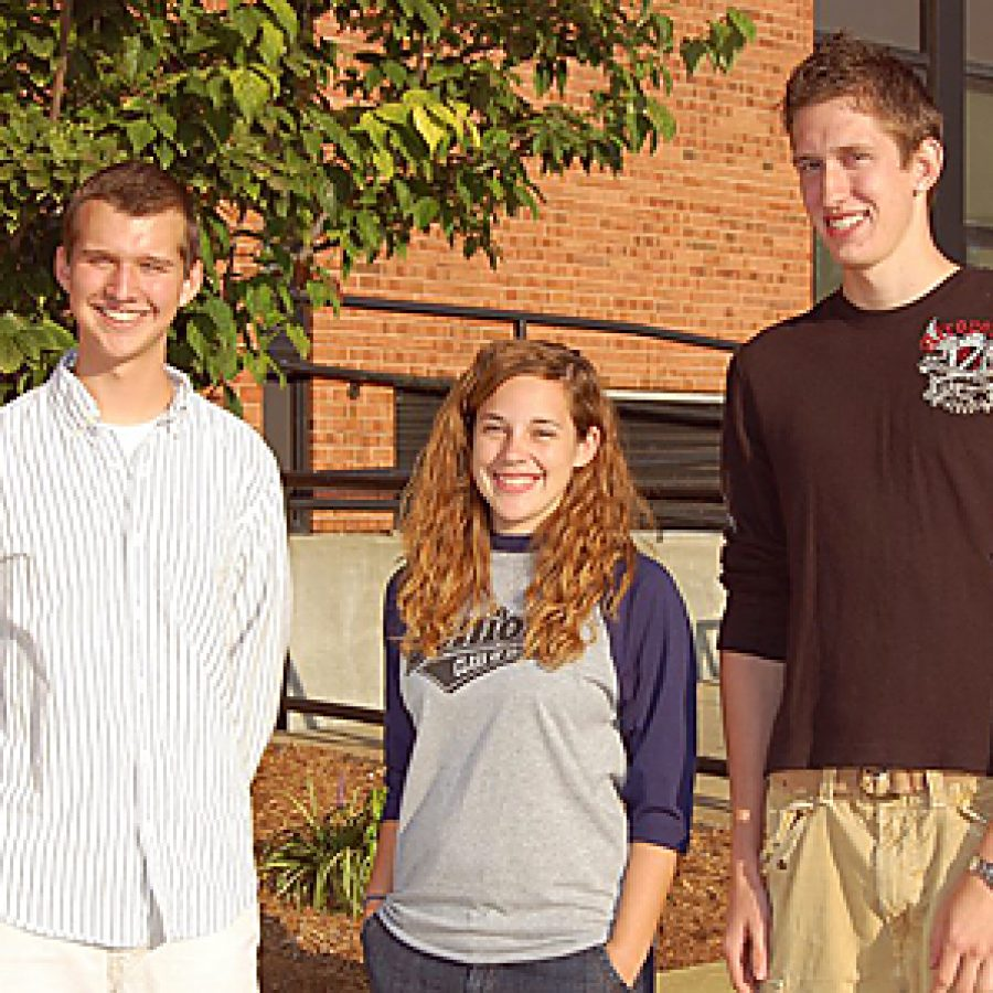Oakville Senior High School seniors Dan Stefanus, Lauren Chapman and Zachariah Westerfield are National Merit Scholarship seminfinalists.