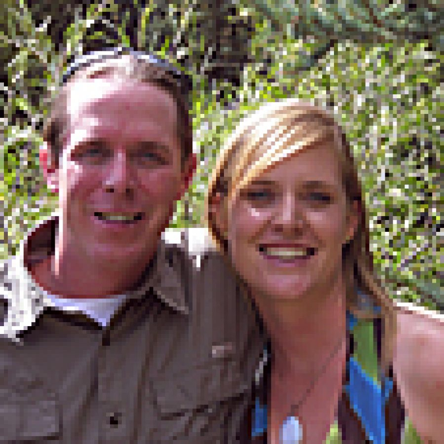 Justin Davis and Michelle Wettig