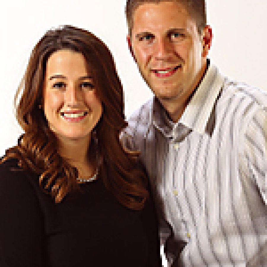 Jessica Lodes and Jason Landherr