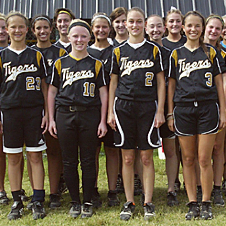 Oakville High head coach Rich Sturm says the 2011 Tigers softball team will have 'a huge bull's-eye' on its back as it defends its 2010 state championship title  this season. Bill Milligan photo