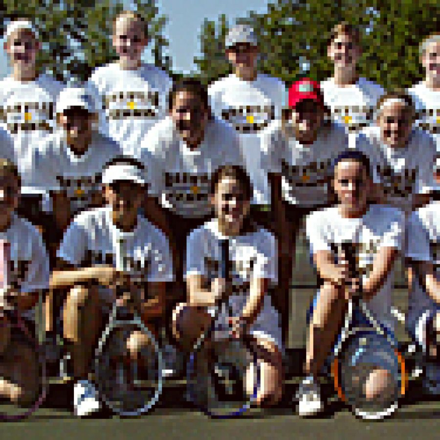After losing half of last year's varsity squad to graduation, the Oakville girls' tennis team may lack some experience this year, says head coach Linda Gebauer. Bill Milligan photo