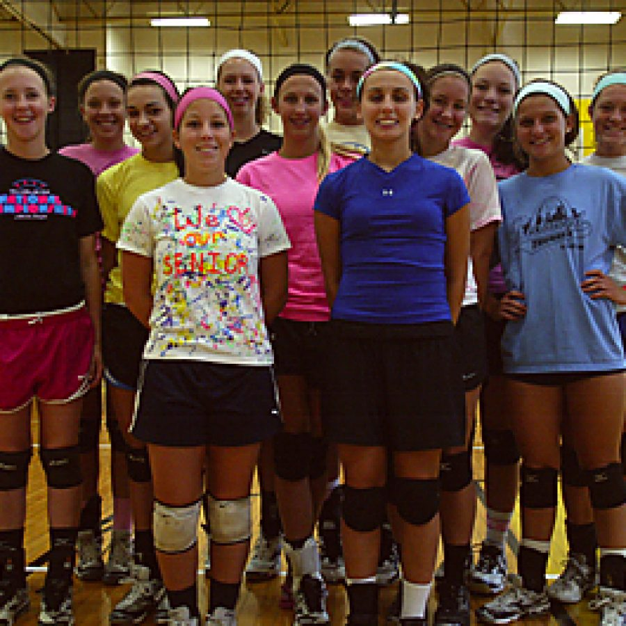 The Oakville High girls' volleyball team, led by head coach Morgan Lucas, looks to advance further in the playoffs in 2011 than last year. Bill Milligan photo