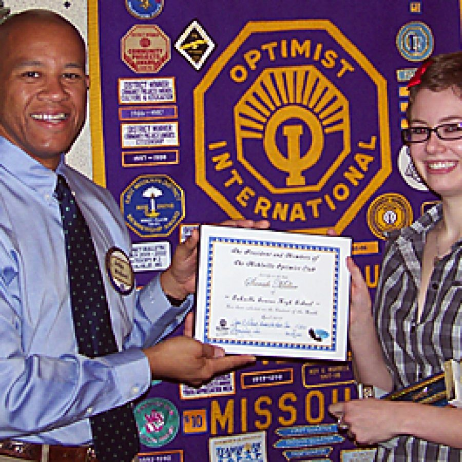 Optimists honor Youth of the Month