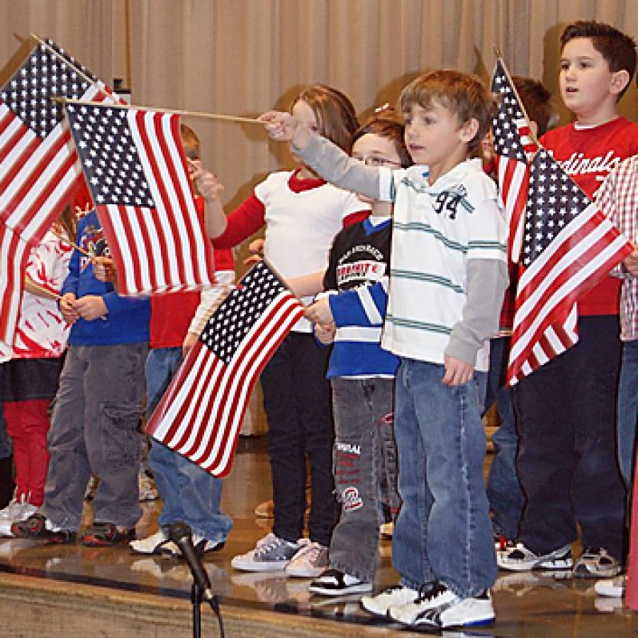 Pupils offer 'A Patriotic Salute'