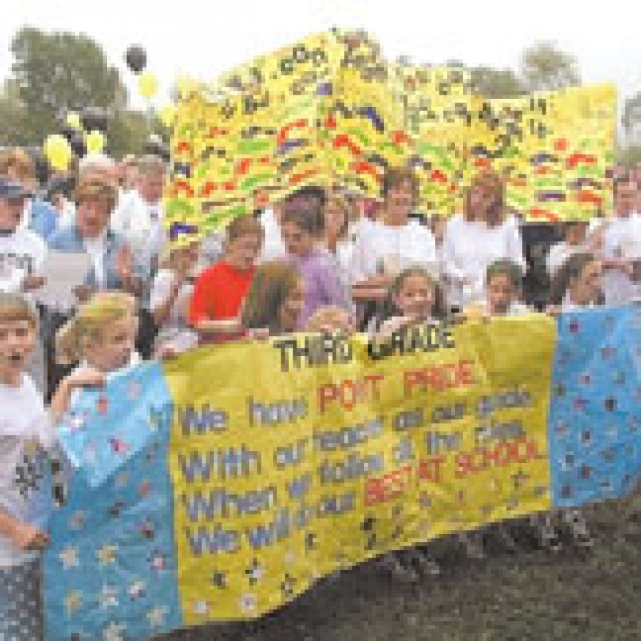 Point Elementary School pupils display their Point Pride.
