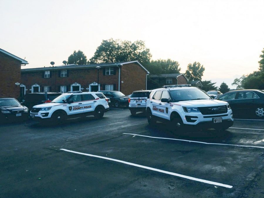 Police+SUVs+respond+to+the+scene+of+a+prank+call+saying+a+child+had+been+shot+at+Covington+Place+apartment+complex+Sept.+11.+