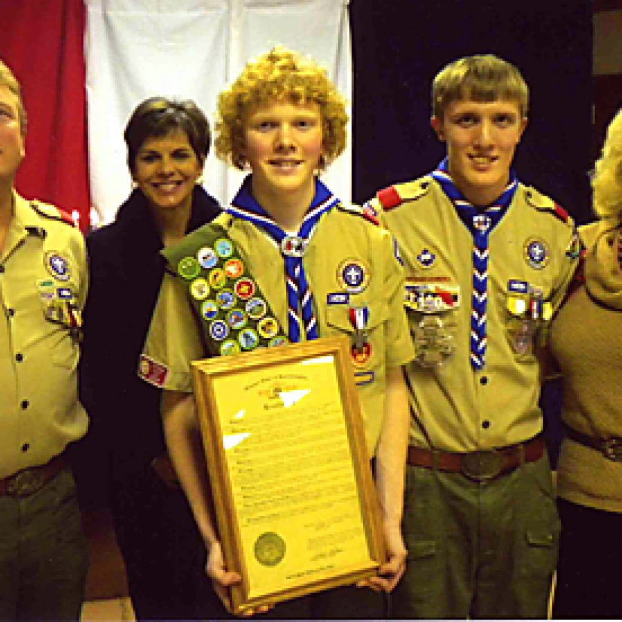 Boy Scout earns rank of Eagle