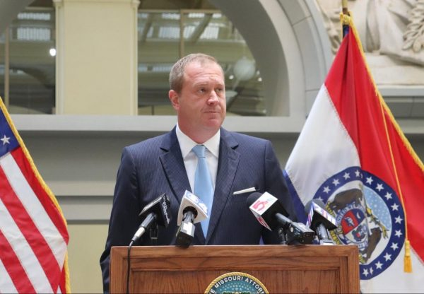 Missouri Attorney General Eric Schmitt discusses the Safer Streets Initiative at an event in St. Louis (photo courtesy of the Missouri Attorney General