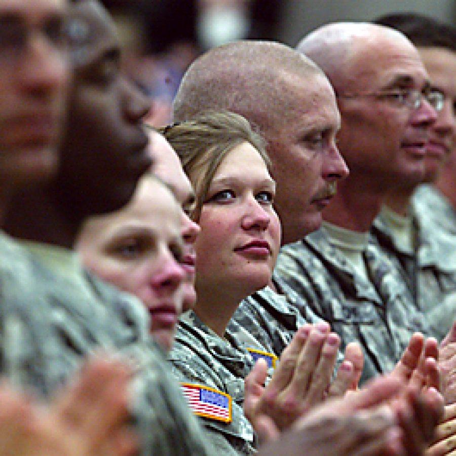 Governor addresses departing troops