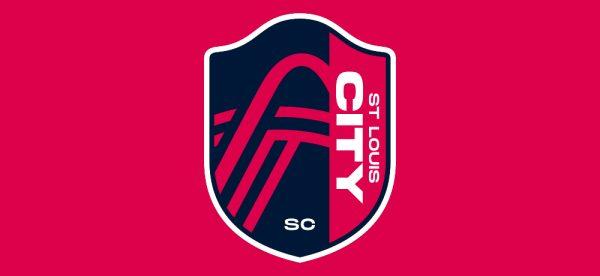 The St. Louis City SC crest, unveiled Aug. 13, 2020.