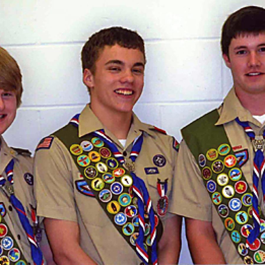 Three Scouts soar to Eagle rank