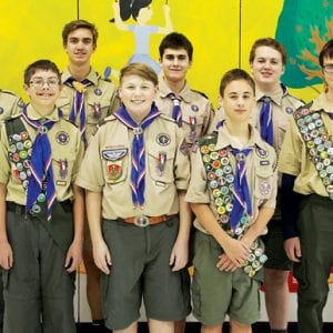 Ten Scouts in Boy Scout Troop 580 earn Eagle rank in 2017