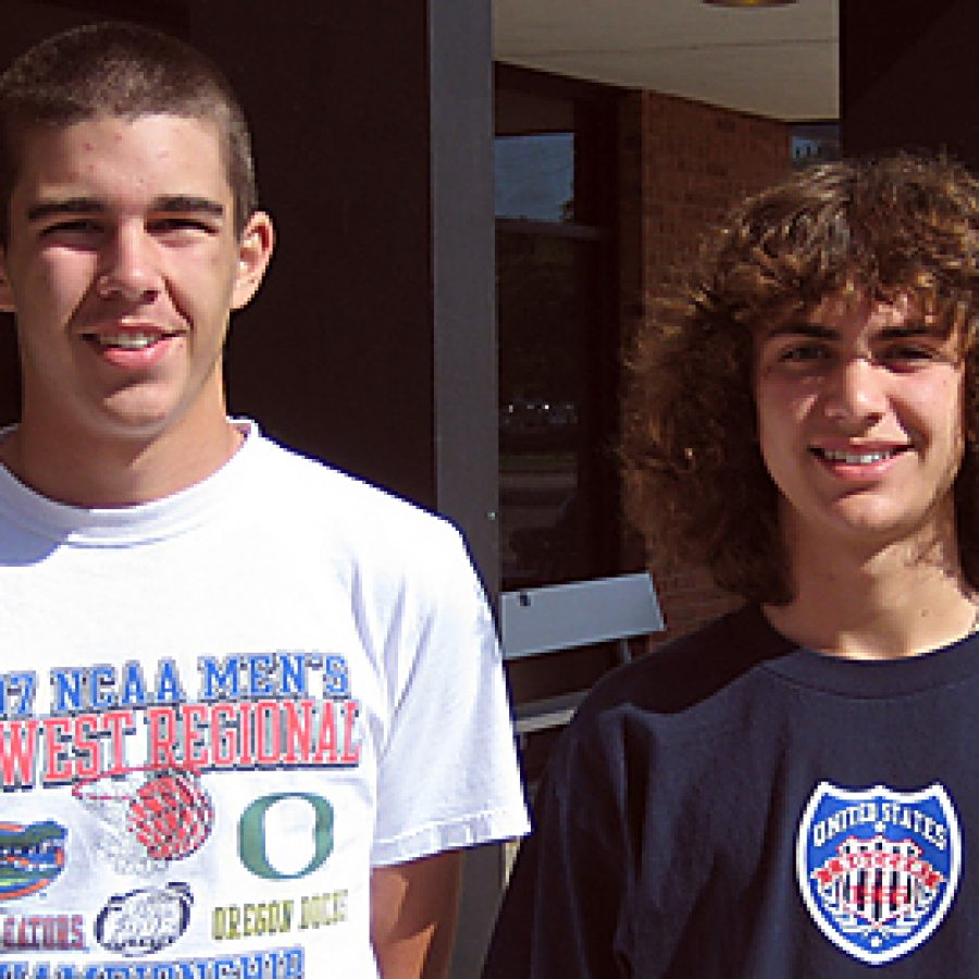 Oakville High School sophomores Nicholas Eftimoff, left, and Tyler Schaeffer will attend the 2010 Missouri Scholars Academy on the campus of the University of Missouri-Columbia.